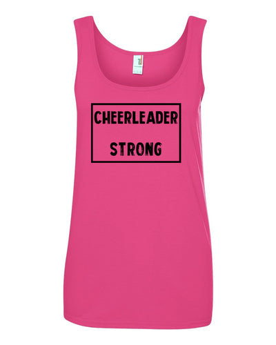 Hot Pink Cheerleader Strong Ladies Cheer Tank Top