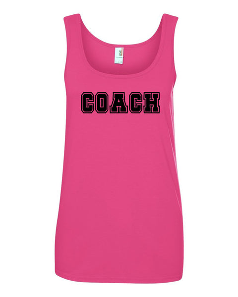 Hot Pink Coach Ladies Tank Top