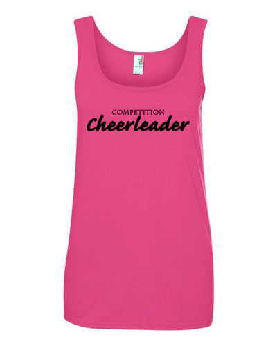 Hot Pink Competition Cheerleader Ladies Cheer Tank Top