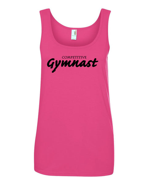 Hot Pink Competitive Gymnast Ladies Gymnastics Tank Top