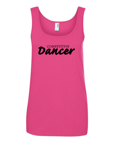 Hot Pink Competitive Dancer Ladies Dance Tank Top
