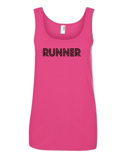 Hot Pink Runner Ladies Runner Tank Top