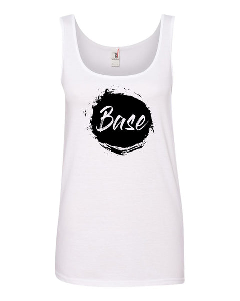 White Base Ladies Cheer Tank Top