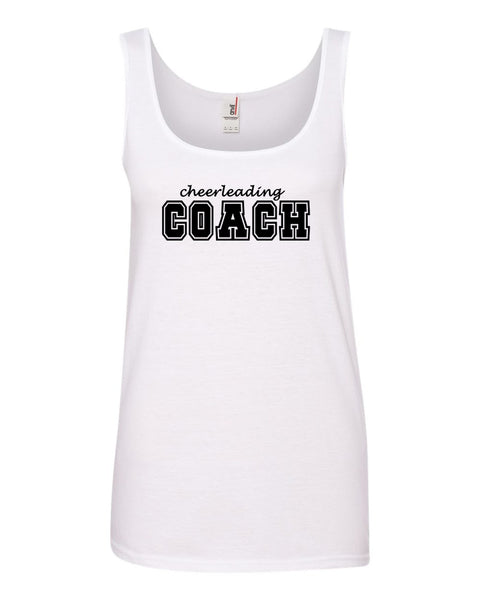 White Cheerleading Coach Ladies Tank Top