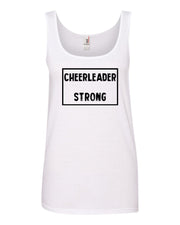 White Cheerleader Strong Ladies Cheer Tank Top