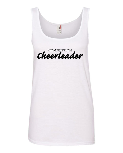 White Competition Cheerleader Ladies Cheer Tank Top
