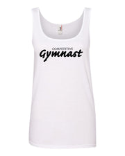 White Competitive Gymnast Ladies Gymnastics Tank Top