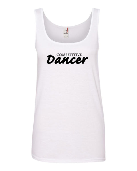 White Competitive Dancer Ladies Dance Tank Top