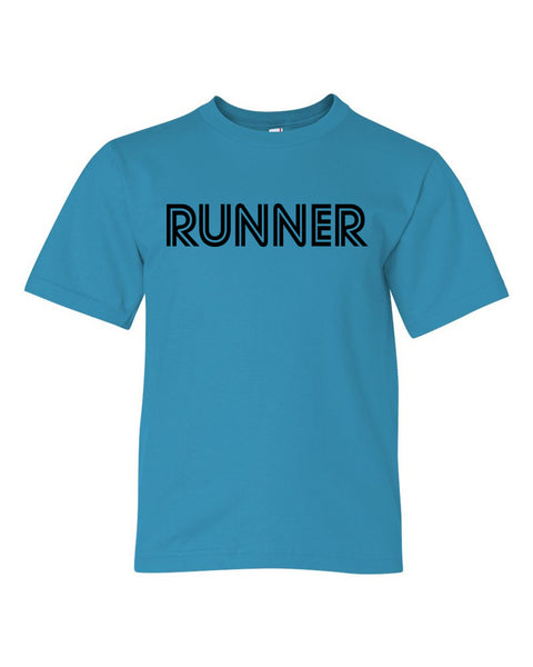 Caribbean Blue Runner Boys Runner T-Shirt
