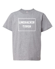 Heather Gray Linebacker Tough Kids Football T-Shirt