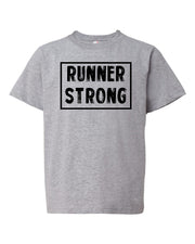 Heather Gray Runner Strong Boys Runner T-Shirt