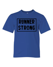 Royal Blue Runner Strong Boys Runner T-Shirt