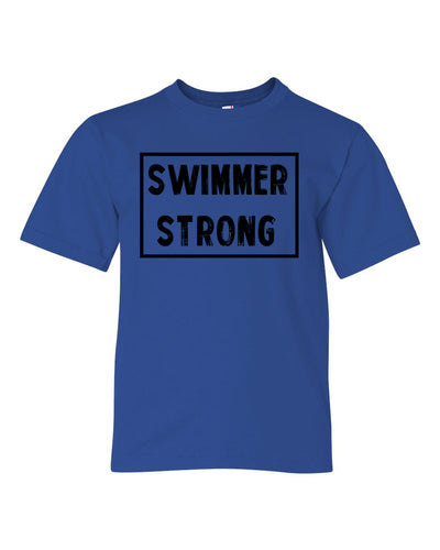 Royal Blue Swimmer Strong Boys Swim T-Shirt