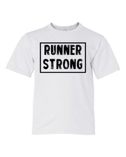 White Runner Strong Boys Runner T-Shirt