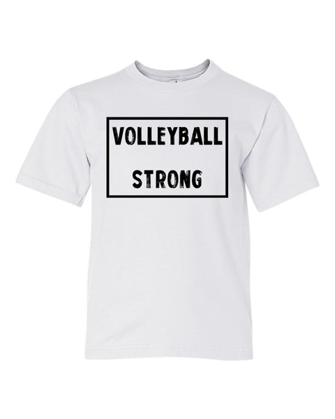 White Volleyball Strong Kids Volleyball T-Shirt