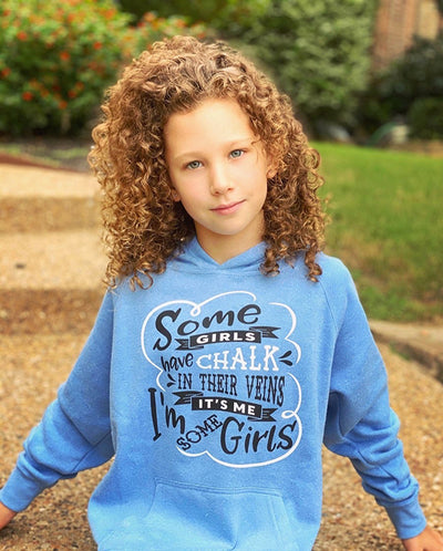 Some Girls Have Chalk In Their Veins Youth Hoodie