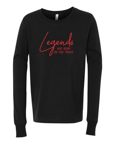 Legends Are Born On The Track Tees Tanks Hoodies