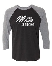 Cheer Mom Strong Adult 3/4 Sleeve Raglan T-Shirt
