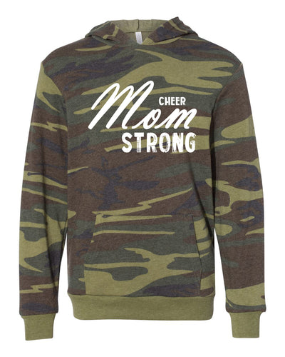 Cheer Mom Strong Adult Camo Hoodie