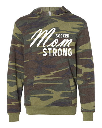 Soccer Mom Strong Adult Camo Hoodie