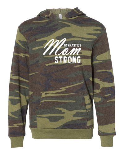 Gymnastics Mom Strong Adult Camo Hoodie