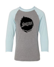 Cheer T-Shirt Raglan Youth Backspot Ice Blue