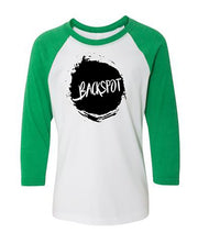 Cheer T-Shirt Raglan Youth Backspot Kelly Green
