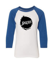 Cheer T-Shirt Raglan Youth Backspot Royal Blue