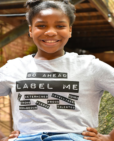 Go Ahead Label Me Ladies T-Shirt