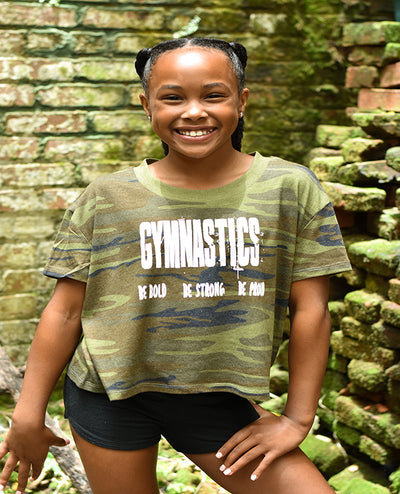 Gymnastics Be Bold Be Strong Be Proud Relaxed Crop Top