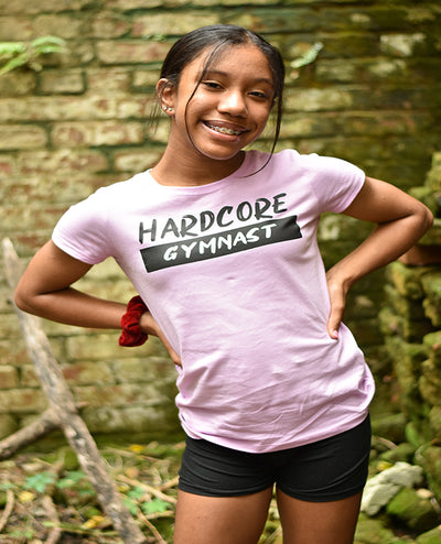 Hardcore Gymnast Girls T-Shirt
