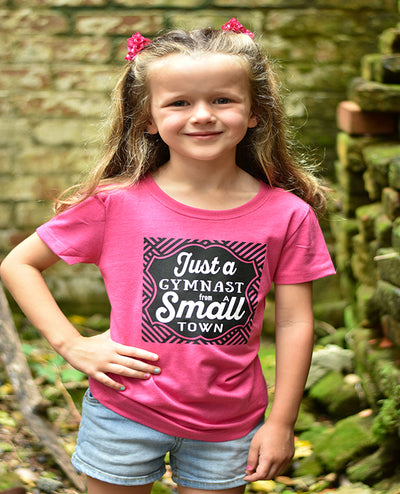 Just A Gymnast From A Small Town Girls T-Shirt