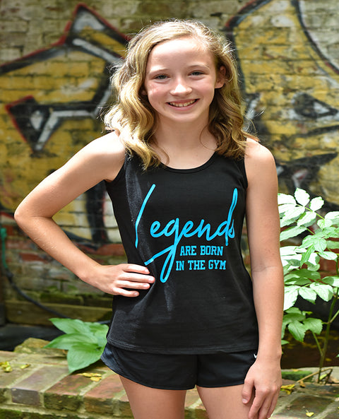 Legends Are Born In The Gym Girls Tank Top