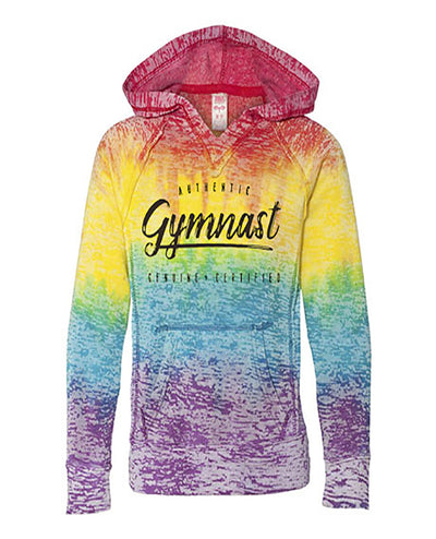 Gymnastics Hoodie Girls Authentic Gymnast Tie Dye
