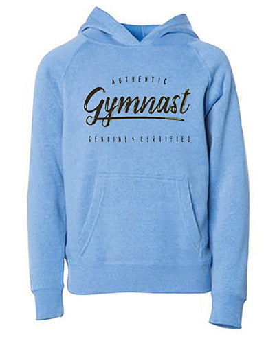 Gymnastics Hoodie Youth Authentic Gymnast Pacific Heather