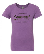 Gymnastics T-Shirt Girls Authentic Gymnast Purple Berry