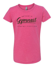 Gymnastics T-Shirt Girls Authentic Gymnast Raspberry