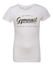 Gymnastics T-Shirt Girls Authentic Gymnast White