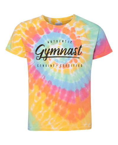 Gymnastics T-Shirt Youth Authentic Gymnast Tie Dye Aerial
