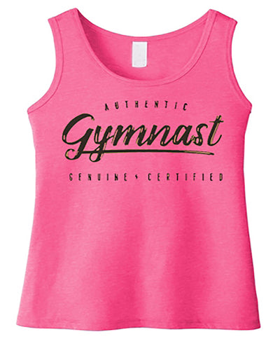 Gymnastics Tank Top Girls Authentic Gymnast Fuchsia Frost