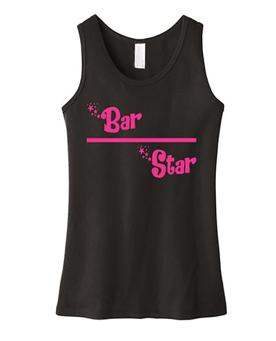 Gymnastics Tank Top Girls Bar Star Black