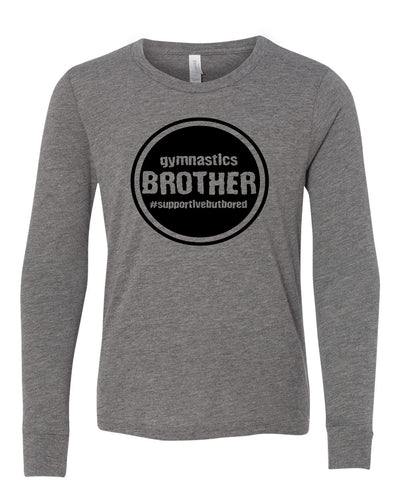 Gymnastics Brother Youth Long Sleeve T-Shirt