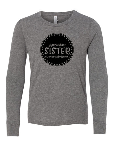Gymnastics Sister Youth Long Sleeve T-Shirt