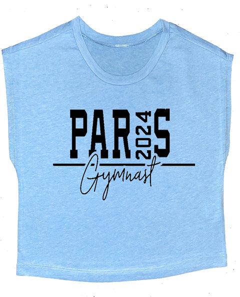Paris 2024 Gymnast Boxy Gymnastics Crop Top