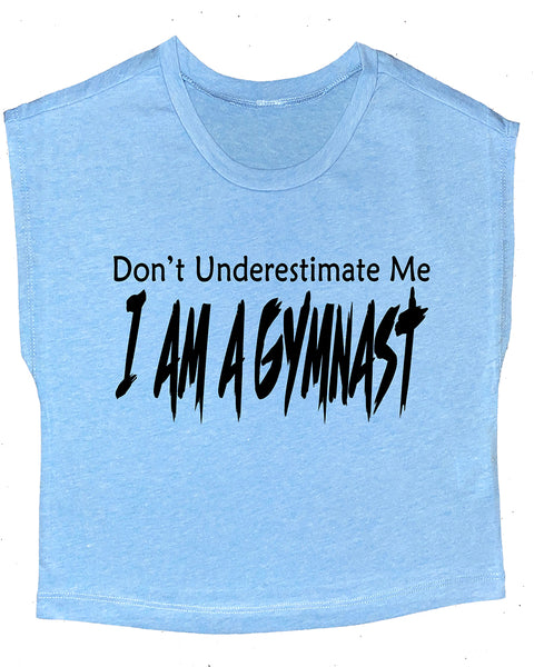 Don't Underestimate Me I Am A Gymnast Boxy Crop Top