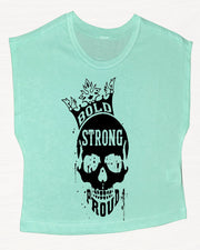 Bold Strong Proud Boxy Crop Top
