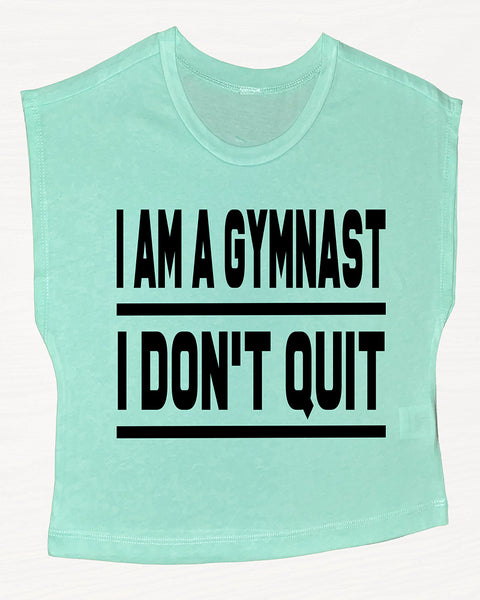I Am A Gymnast I Don't Quit Boxy Crop Top