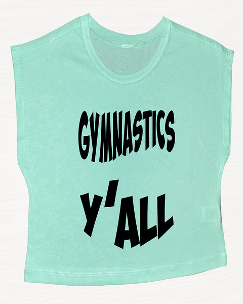 Gymnastics Y'all Boxy Crop Top