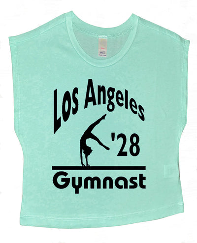 LA 2028 Gymnast Boxy Gymnastics Crop Top