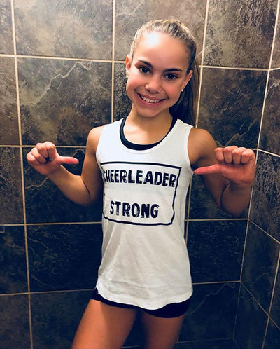 Cheerleader Strong Girls Tank Top